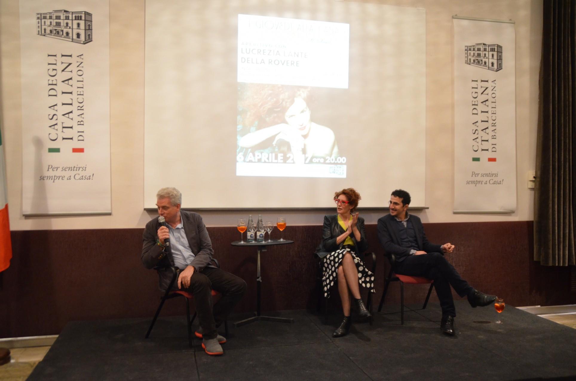 Lucrezia Lante della Rovere con Guido Torlonia (con il microfono) e Francesco Zecca